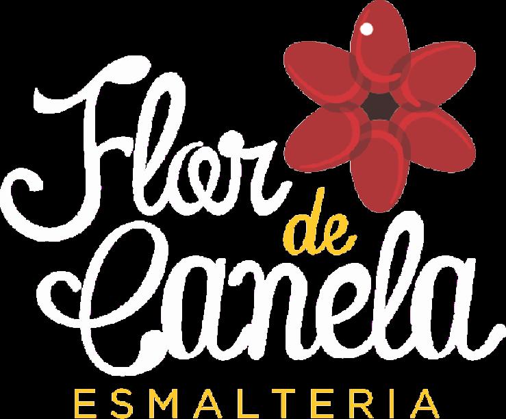 logomarca de Flor de Canela Esmalteria