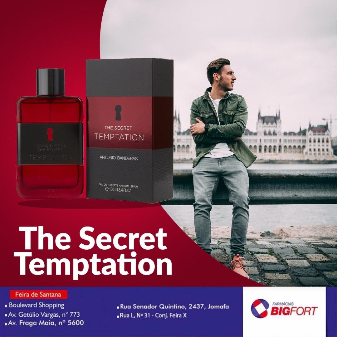 The Secret Tempation by Antonio Banderas nas Farmácias Big Fort!