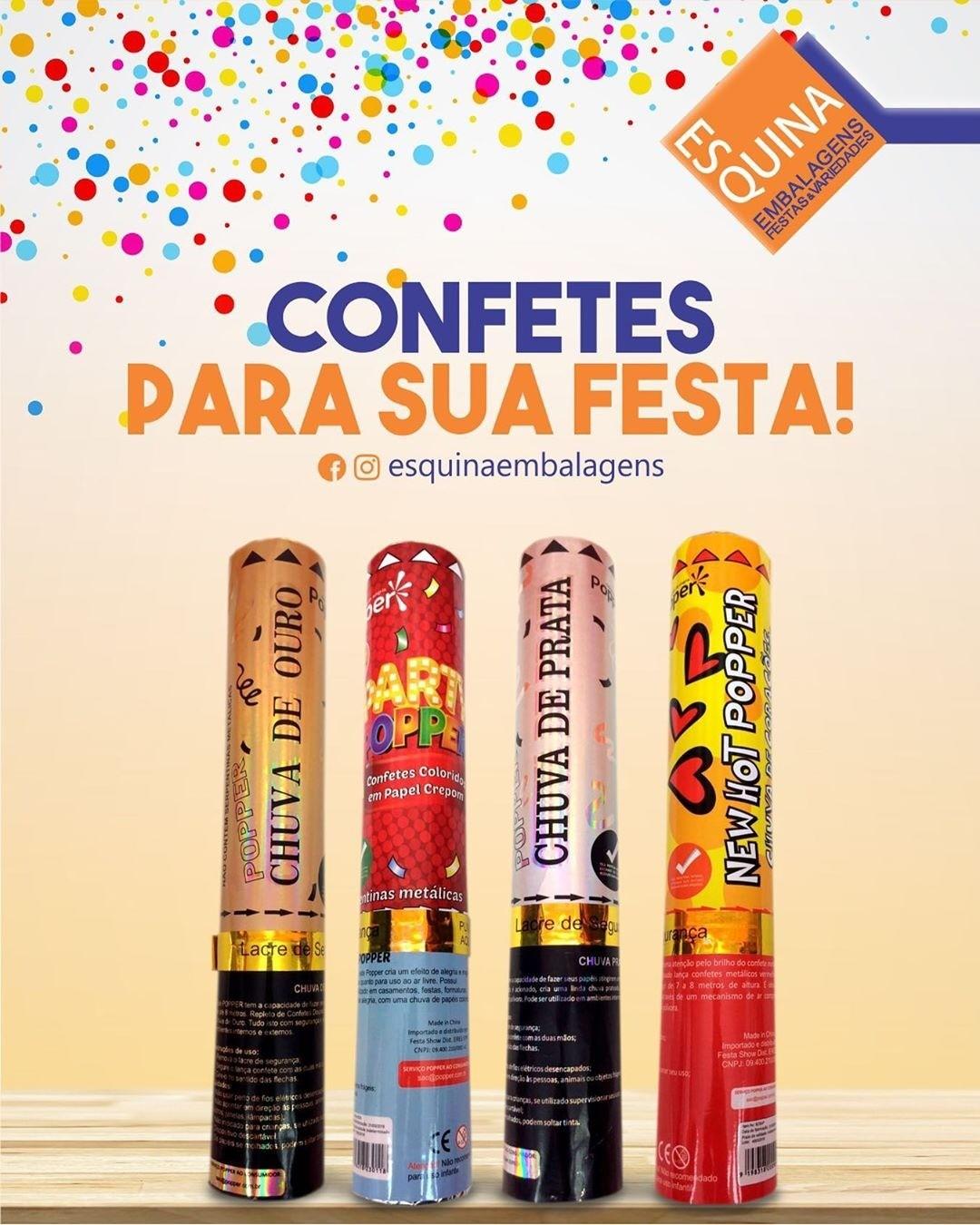 Variados tipos de confetes para a sua festa!