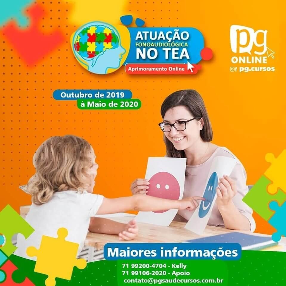 ATUAÇÃO FONOAUDIOLÓGICA NO TEA – APRIMORAMENTO ONLINE