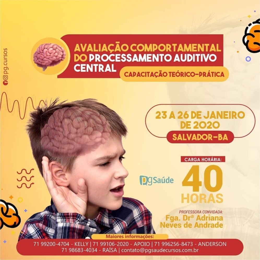AVALIAÇÃO COMPORTAMENTAL DO PROCESSAMENTO AUDITIVO CENTRAL