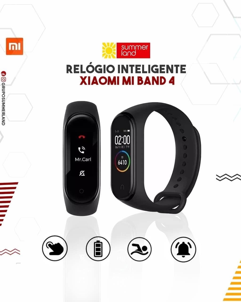 Relógio Inteligente Xiaomi Mi BAND 4