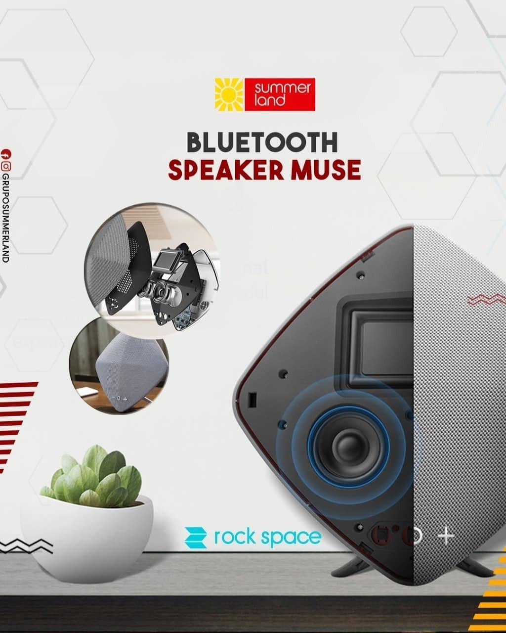 Caixa de som Bluetooth Speaker MUSE.