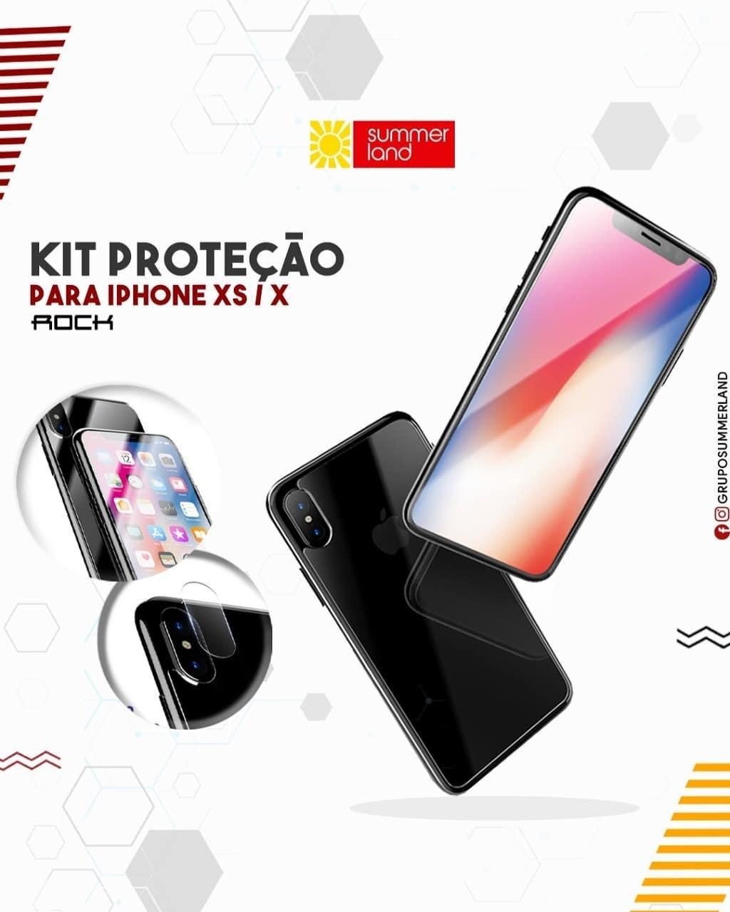Kit Proteção para iPhone XS / X