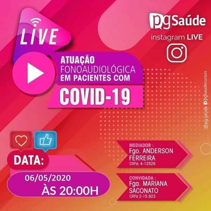 LIVE: Atuação fonoaudiológica em pacientes com Covid_19